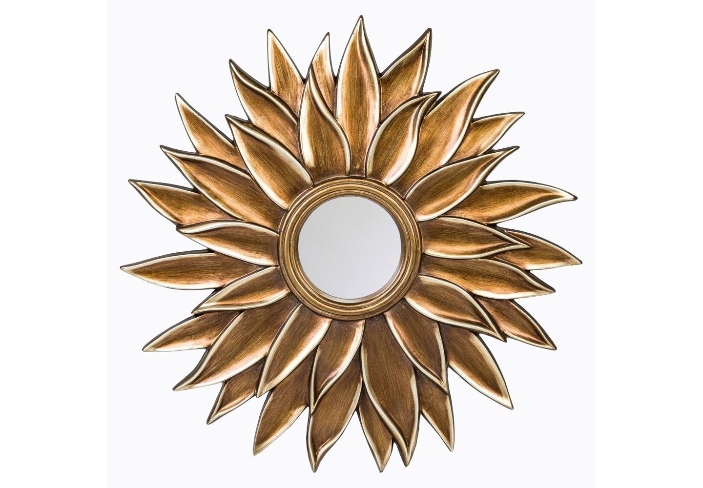 Настенное зеркало «Кассис»Настенные зеркала<br>Солнечное ядро зеркала &amp;quot;Кассис&amp;quot; опоясано широкой фацетной гранью, играющей золотистыми отблесками лучезарной оправы. &amp;quot;Кассис&amp;quot; - ярчайший экземпляр декоративного интерьерного зеркала. Это зеркало - эталон эклектики, дружественной большинству интерьерных направлений. Зеркало покрыто серебряной амальгамой, толщина зеркала 5 мм. Рама изготовлена из полиуретана, который  достоверно имитирует любые материалы. На первый взгляд оправа зеркала &amp;quot;Кассис&amp;quot; не отличается от металлической. <br><br>&amp;lt;div&amp;gt;&amp;lt;br&amp;gt;&amp;lt;/div&amp;gt;&amp;lt;div&amp;gt;Материал: рама - полиуретан, зеркало с серебряной амальгамой, толщина зеркального стекла - 5 мм&amp;lt;br&amp;gt;&amp;lt;/div&amp;gt;<br><br>Material: Полиуретан<br>Width см: None<br>Depth см: 4<br>Height см: None<br>Diameter см: 102