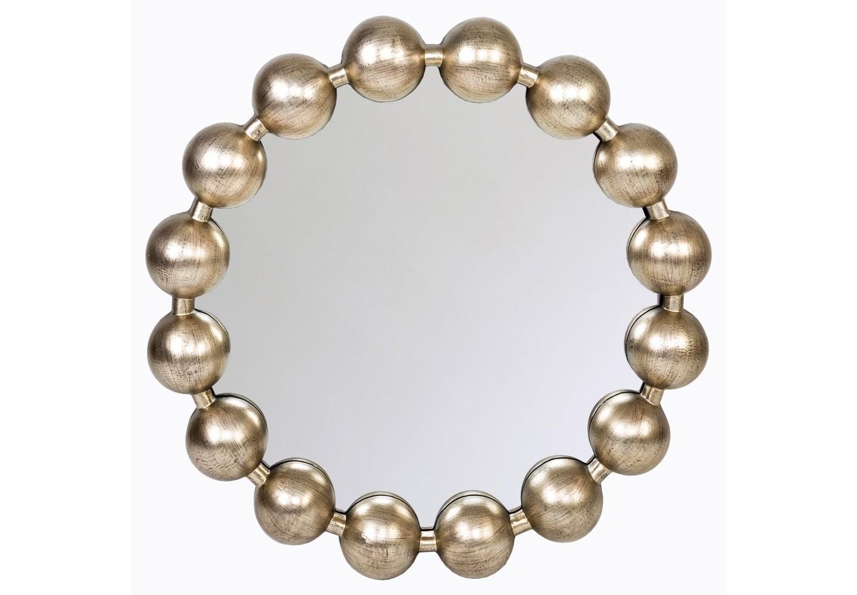 Настенное зеркало «Виконтесса»Настенные зеркала<br>Подражая дамскому ожерелью, обруч рамы зеркала «Виконтесса» кокетливо унизан переливающимися жемчужинами. Зеркало &amp;quot;Виконтесса&amp;quot; - золотая середина между лаконичностью и изыском, классицизмом и модерном, практичностью и декором.<br>Зеркало имеет толщину 5 мм, покрыто серебряной амальгамой. Рама изготовлена из полиуретана, Полиуретан достоверно имитирует любые материалы. На первый взгляд оправа зеркала &amp;quot;Виконтесса&amp;quot; не отличается от металлической. <br><br>&amp;lt;div&amp;gt;&amp;lt;br&amp;gt;&amp;lt;/div&amp;gt;&amp;lt;div&amp;gt;&amp;lt;div&amp;gt;Материал: рама - полиуретан, зеркало с серебряной амальгамой, толщина зеркального стекла - 5 мм&amp;lt;/div&amp;gt;&amp;lt;/div&amp;gt;&amp;lt;div&amp;gt;&amp;lt;br&amp;gt;&amp;lt;/div&amp;gt;<br><br>Material: Полиуретан