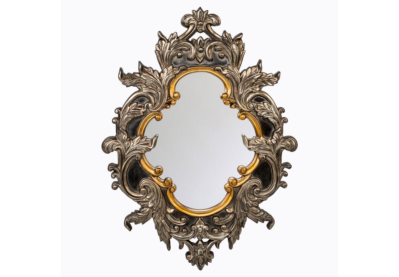 Настенное зеркало «Руаяль»Настенные зеркала<br>Пышный растительный узор, объемный рельеф и королевские размеры зеркала «Руаяль» придают этому зеркалу архитектурную выразительность. Пред лицом такого зеркала любая модная примерка разыграется в торжество версальского бала! Зеркало толщиной 5 мм покрыто серебряной амальгамой. Рама изготовлена из полиуретана, - экологически безвредного, прочного и долговечного материала. Полиуретан достоверно имитирует любые материалы. На первый взгляд оправа зеркала Руаяль не отличается от металлической.<br><br>Материал: рама - полиуретан, зеркало с серебряной амальгамой, толщина зеркального стекла - 5 мм<br><br>kit: None<br>gender: None