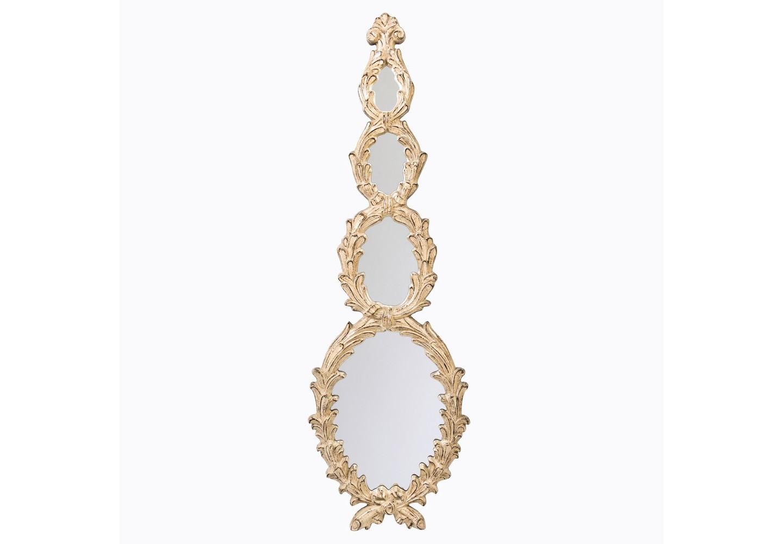 Настенное зеркало «Валери»Настенные зеркала<br>Зеркало &amp;quot;Валери&amp;quot; романтично ниспадает каскадом лавровых венков, констатирующих древнюю романскую родословную этого благородного дизайна. Четыре зеркальных полотна заключены в каждом из четырех овалов рамы. Зеркало &amp;quot;Валери&amp;quot; - интерьерный экскурс в эпоху великого Ренессанса.  Зеркал имеет толщину 5 мм, покрыто серебряной амальгамой. Рама изготовлена из полиуретана  - экологически безвредного и долговечного материала. Этот материал стоек к влаге и солнечному свету, краски не тускнеют и не выгорают. &amp;lt;div&amp;gt;&amp;lt;br&amp;gt;&amp;lt;/div&amp;gt;&amp;lt;div&amp;gt;Материал: рама - полиуретан, зеркало с серебряной амальгамой, толщина зеркального стекла - 5 мм&amp;lt;br&amp;gt;&amp;lt;/div&amp;gt;<br><br>Material: Полиуретан<br>Width см: 44<br>Depth см: 4.5<br>Height см: 140