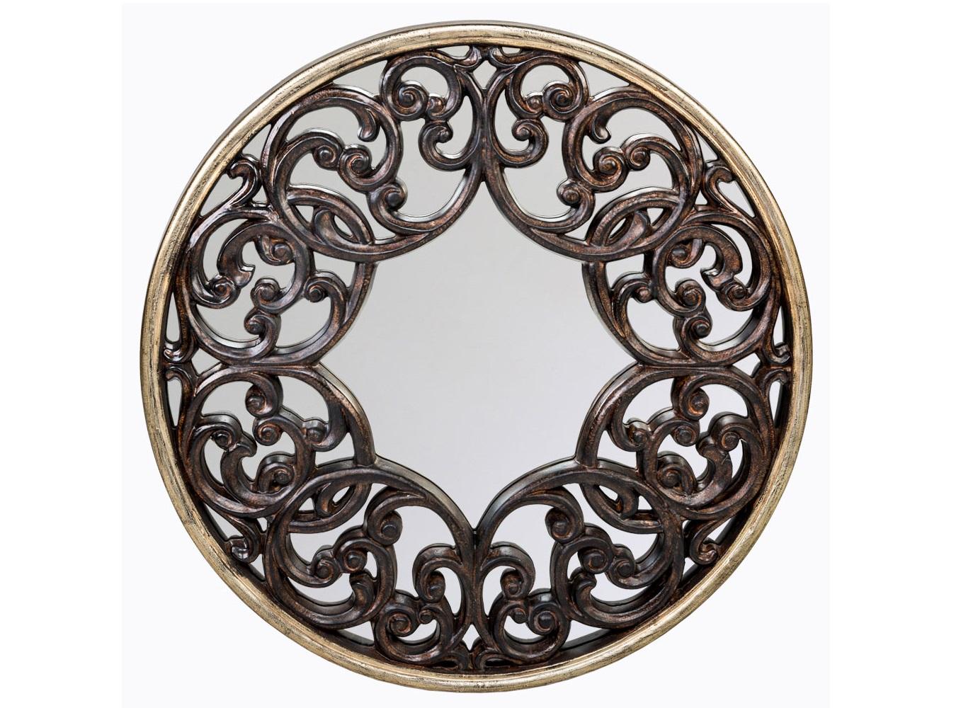 Настенное зеркало «Ардан»Настенные зеркала<br>Зеркало &amp;quot;Ардан&amp;quot; - образец фешенебельного кельтского стиля, признанного синонимом вкуса и респектабельности. Подобно мишени, это зеркало непременно становится центром интерьерного внимания.  Зеркало имеет толщину 4 мм, покрыто серебряной амальгамой. Рама изготовлена из полиуретана, - экологически безвредного, прочного и долговечного материала. Полиуретан достоверно имитирует любые материалы. На первый взгляд оправа зеркала &amp;quot;Ардан&amp;quot; не отличается от металлической.&amp;lt;div&amp;gt;&amp;lt;br&amp;gt;&amp;lt;/div&amp;gt;&amp;lt;div&amp;gt;Материал: рама - полиуретан, зеркало с серебряной амальгамой, толщина зеркального стекла - 4 мм&amp;lt;br&amp;gt;&amp;lt;/div&amp;gt;<br><br>Material: Полиуретан