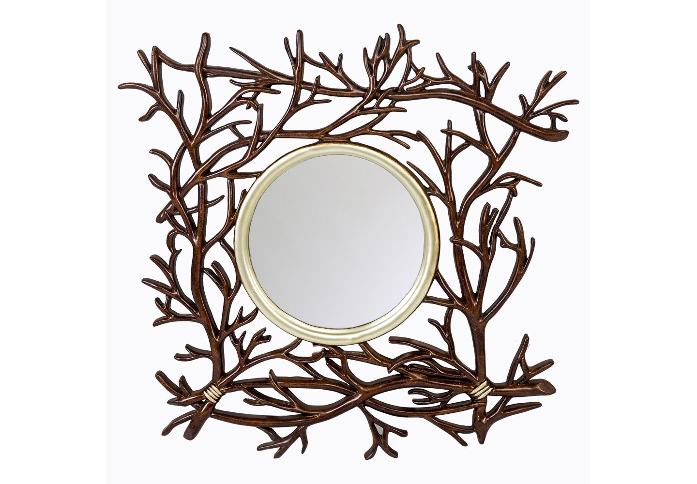 Настенное зеркало «Монблан»Настенные зеркала<br>Зеркало &amp;quot;Монблан&amp;quot; очаровывает обилием тонких деталей, разыгрывающих сценарий волшебного леса. Золотистый центр подсвечен тонкой фацетной гранью. Являясь эталоном экзотичного стиля &amp;quot;шале&amp;quot;, зеркало &amp;quot;Монблан&amp;quot; симпатизирует кельтским  интерьерам, &amp;quot;лофту&amp;quot;, &amp;quot;модерну&amp;quot;, &amp;quot;кантри&amp;quot;, &amp;quot;ар-деко&amp;quot; и &amp;quot;эко-стилю&amp;quot;. Зеркало имеет толщину 4 мм, покрыто серебряной амальгамой. Рама изготовлена из полиуретана, - экологически безвредного, прочного и долговечного материала. Этот материал стоек к влаге и солнечному свету.&amp;lt;div&amp;gt;&amp;lt;br&amp;gt;&amp;lt;/div&amp;gt;&amp;lt;div&amp;gt;Материал: рама - полиуретан, зеркало с серебряной амальгамой, толщина зеркального стекла - 4 мм&amp;lt;br&amp;gt;&amp;lt;/div&amp;gt;<br><br>Material: Полиуретан<br>Width см: 101.5<br>Depth см: 3.8<br>Height см: 101.5