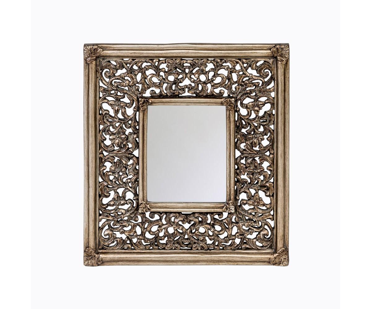 Настенное зеркало «Трианон»Настенные зеркала<br>Зеркало &amp;quot;Трианон&amp;quot; - иллюстрация решительного вкуса, стиля и респектабельности. Зеркальный периметр переливается радужными гранями широкого фацета. Своё отражение в нем найдут готический, романский, греческий, кельтский, арабский, колониальный стили, ренессанс, ампир, рококо. Строгую прямоугольную оправу примут современные жанры &amp;quot;модерн&amp;quot; и &amp;quot;лофт&amp;quot;. <br>Зеркало покрыто серебряной амальгамой. Рама изготовлена из полиуретана. На первый взгляд оправа зеркала &amp;quot;Трианон&amp;quot; не отличается от металлической.<br>&amp;lt;div&amp;gt;&amp;lt;br&amp;gt;&amp;lt;/div&amp;gt;&amp;lt;div&amp;gt;&amp;lt;div&amp;gt;Материал: рама - полиуретан, зеркало с серебряной амальгамой, толщина зеркального стекла - 5 мм&amp;lt;/div&amp;gt;&amp;lt;/div&amp;gt;&amp;lt;div&amp;gt;&amp;lt;br&amp;gt;&amp;lt;/div&amp;gt;<br><br>Material: Полиуретан<br>Ширина см: 54.0<br>Высота см: 49.0<br>Глубина см: 3.0