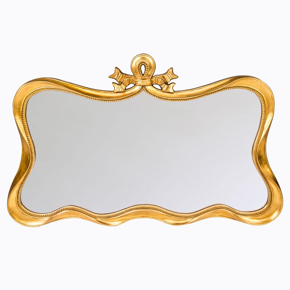 Настенное зеркало «Марсель»Настенные зеркала<br>Зеркало &amp;quot;Марсель&amp;quot; - идеальный баланс между романтичной классикой и контрастным &amp;quot;лофтом&amp;quot;, между функциональностью и декором. Золотистая дымка и плавные симметричные формы даруют интерьеру имидж аккуратности, чистоты и уюта. Уютная плавная форма зеркала &amp;quot;Марсель&amp;quot; - секрет его гармонии с окружающим интерьером.  Зеркало  покрыто серебряной амальгамой. Рама изготовлена из полиуретана. Полиуретан достоверно имитирует любые материалы. На первый взгляд оправа зеркала &amp;quot;Марсель&amp;quot; не отличается от металлической.&amp;lt;div&amp;gt;&amp;lt;br&amp;gt;&amp;lt;/div&amp;gt;&amp;lt;div&amp;gt;Материал:&amp;amp;nbsp;рама - полиуретан, зеркало с серебряной амальгамой, толщина зеркального стекла - 5 мм&amp;lt;br&amp;gt;&amp;lt;/div&amp;gt;<br><br>Material: Полиуретан<br>Width см: 134.5<br>Depth см: 4.8<br>Height см: 83.2