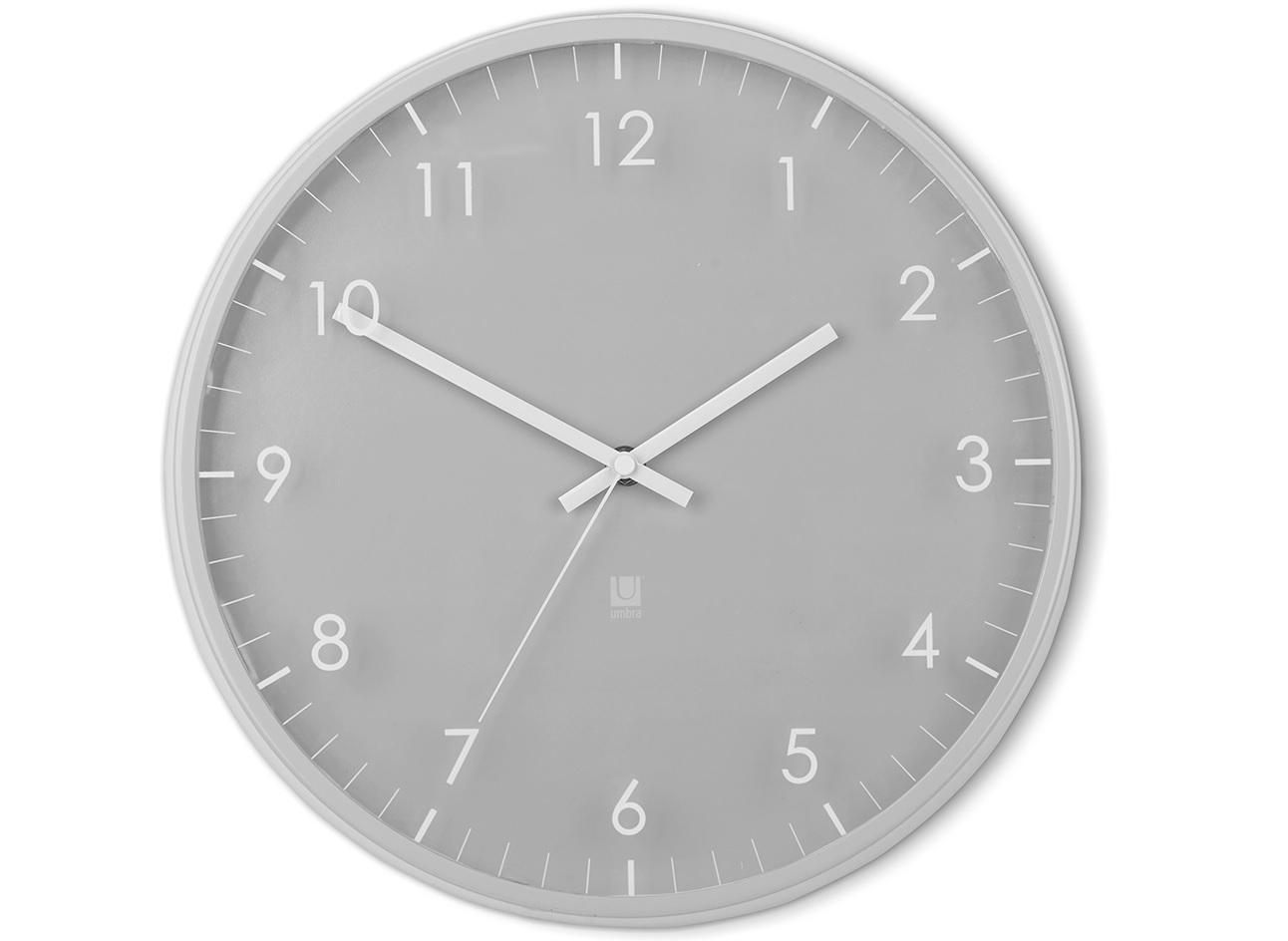 Часы настенные PaceНастенные часы<br>Настенные часы с незаметной на первый взгляд, но весьма оригинальной деталью: цифры и деления нарисованы не на циферблате, а на наружнем стекле. Обрамлены металлическим ободом.&amp;lt;div&amp;gt;&amp;lt;br&amp;gt;&amp;lt;/div&amp;gt;&amp;lt;div&amp;gt;Работают от одной стандартной батарейки АА (в комплект не входит).&amp;lt;/div&amp;gt;&amp;lt;div&amp;gt;Дизайн: Umbra Studio&amp;lt;/div&amp;gt;<br><br>Material: Металл<br>Depth см: 3,8<br>Diameter см: 31,8