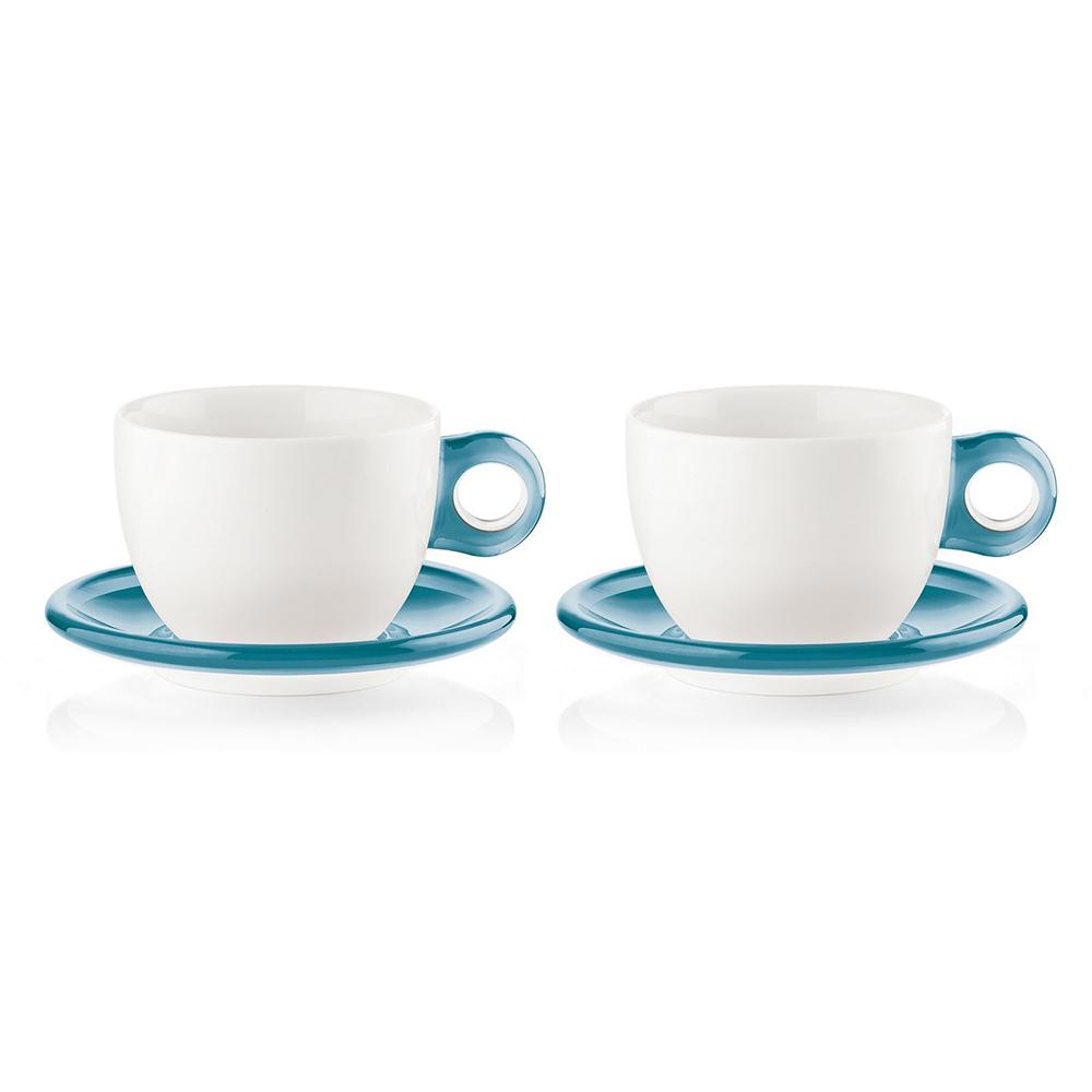 Набор чашек Gocce (2 шт.)Чайные пары, чашки и кружки<br>Набор из двух фарфоровых чашек с ручками и блюдцами из органического стекла. Специальная техника по работе с акрилом позволяет создавать двухуровневый, &amp;quot;объемный&amp;quot; цвет, который прекрасно контрастирует с белизной фарфора. Чашки идеально подойдут для утреннего кофе или вечернего чаепития. Они будут одинаково хорошо смотреться как в квартире, так и в загородном доме, а так же во время пикника на свежем воздухе.&amp;lt;div&amp;gt;&amp;lt;br&amp;gt;&amp;lt;/div&amp;gt;&amp;lt;div&amp;gt;Объем - 480 мл.&amp;amp;nbsp;&amp;lt;/div&amp;gt;&amp;lt;div&amp;gt;мыть в посудомоечной машине и использовать в микроволновой печи.&amp;lt;/div&amp;gt;&amp;lt;div&amp;gt;Чашки упакованы в коробку.&amp;lt;/div&amp;gt;&amp;lt;div&amp;gt;Размер коробки 34,5Х12,5Х23 см.&amp;lt;br&amp;gt;&amp;lt;/div&amp;gt;<br><br>Material: Фарфор<br>Width см: 34,5<br>Depth см: 23<br>Height см: 12,5