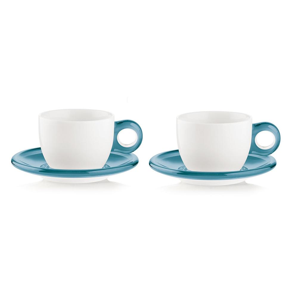 Набор чашек Gocce (2 шт.)Чайные пары и чашки<br>Набор из двух фарфоровых чашек с ручками и блюдцами из органического стекла. Специальная техника по работе с акрилом позволяет создавать двухуровневый, &amp;quot;объемный&amp;quot; цвет, который прекрасно контрастирует с белизной фарфора. Чашки идеально подойдут для утреннего кофе или вечернего чаепития. Они будут одинаково хорошо смотреться как в квартире, так и в загородном доме, а так же во время пикника на свежем воздухе.&amp;lt;div&amp;gt;&amp;lt;br&amp;gt;&amp;lt;/div&amp;gt;&amp;lt;div&amp;gt;Объем - 300 мл. Можно мыть в посудомоечной машине и использовать в микроволновой печи. Чашки упакованы в коробку. Размер коробки 37Х13Х21 см.&amp;lt;br&amp;gt;&amp;lt;/div&amp;gt;<br><br>Material: Фарфор<br>Width см: 37<br>Depth см: 21<br>Height см: 13