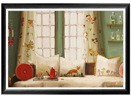 Арт-постер лиса на диване (object desire) мультиколор 46.0x66.0x2.0 см.
