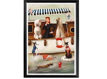Арт-постер купальщики (object desire) мультиколор 46.0x66.0x2.0 см.