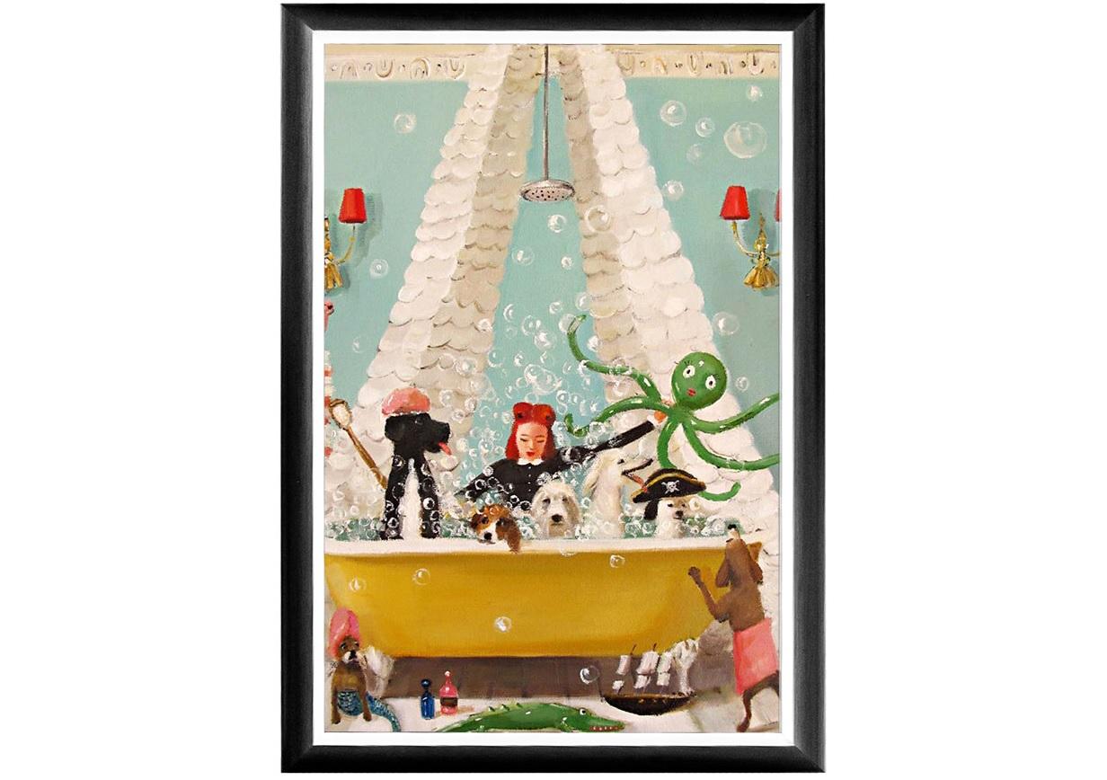 Арт-постер битва пиратов (object desire) мультиколор 46.0x66.0x2.0 см. фото