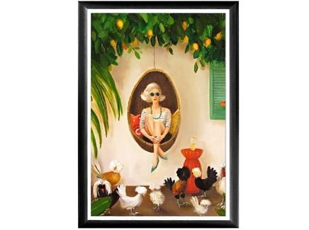 Арт-постер необыкновенные цыплята (object desire) мультиколор 46.0x66.0x2.0 см.