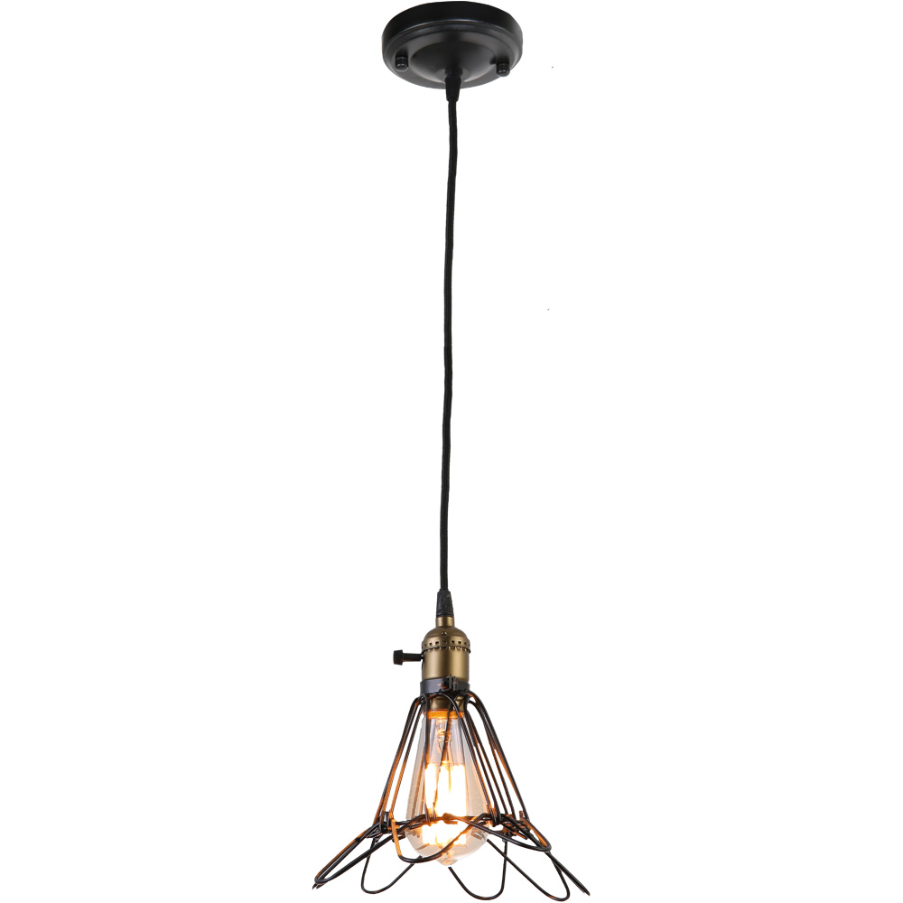 Подвесной светильникПодвесные светильники<br>&amp;lt;div&amp;gt;Вид цоколя: E27&amp;lt;/div&amp;gt;&amp;lt;div&amp;gt;Мощность: 40W&amp;lt;/div&amp;gt;&amp;lt;div&amp;gt;Количество ламп: 1&amp;lt;/div&amp;gt;<br><br>Material: Металл<br>Высота см: 23