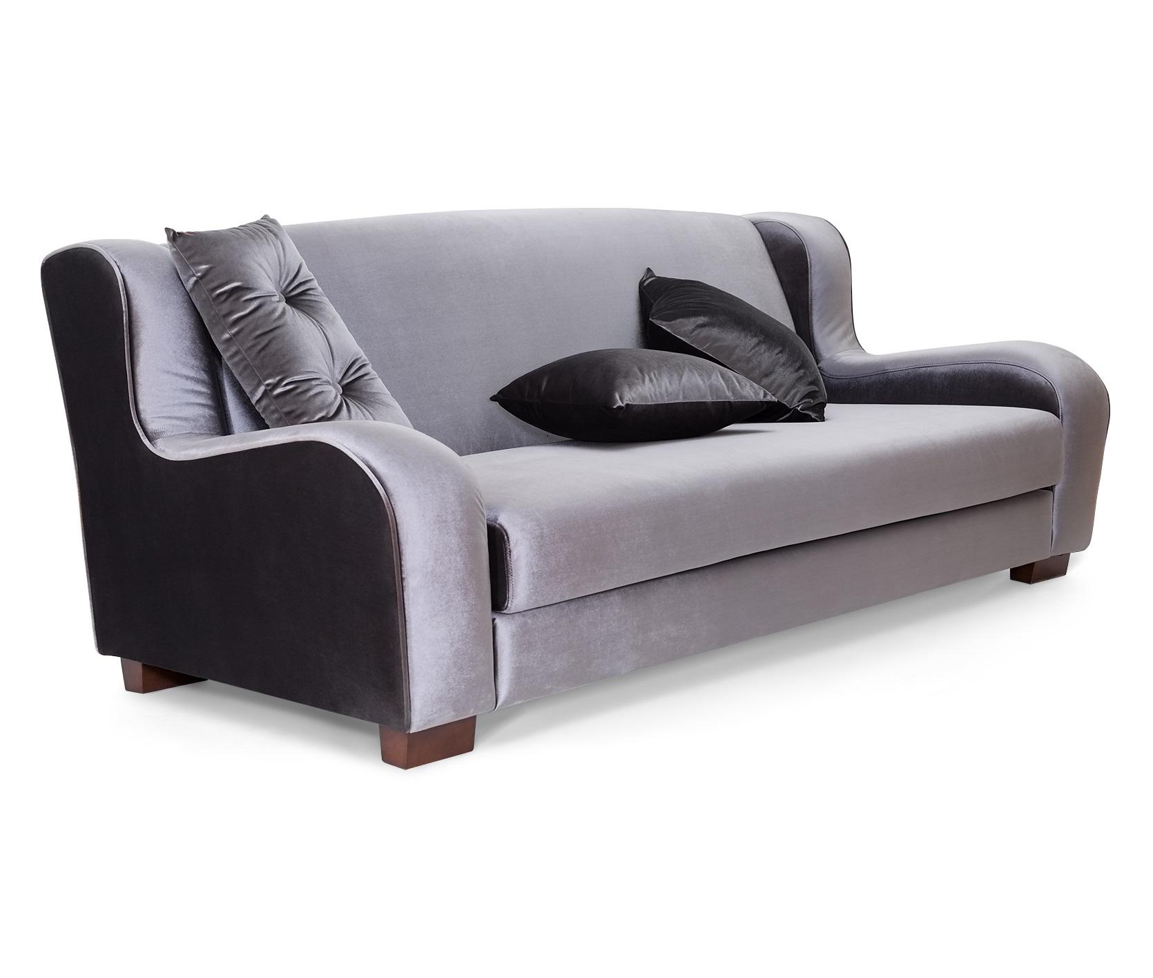 Диван NOLAТрехместные диваны<br>Этот мягкий диван с низкими подлокотниками будет уместен практически в любом интерьере благодаря современному классическому дизайну и колориту. Матово переливающаяся обивка серого цвета сдержанна и нарядна одновременно. Несомненно, комфорта и нарядности добавляют этому образцу и пять подушек, одна из которых отличается от других формой и декором.<br><br>Возможные варианты:<br>S5974/NOLA-78A/3S<br>S5974/NOLA-88A/3S<br><br>Material: Текстиль<br>Length см: None<br>Width см: 220<br>Depth см: 103<br>Height см: 87<br>Diameter см: None