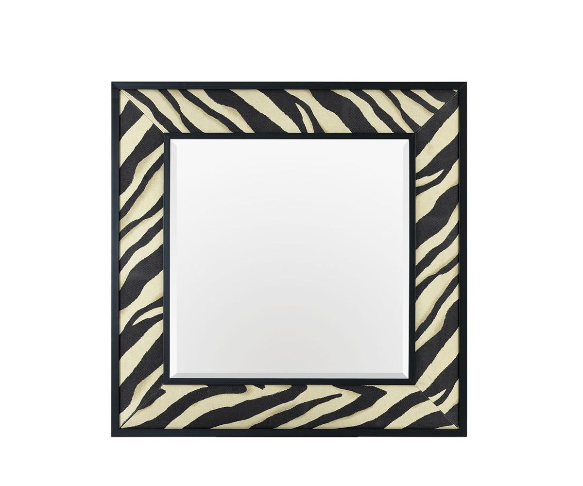 ЗеркалоНастенные зеркала<br>Зеркало Mirror Zebra в металлической раме с тканевой отделкой. Ткань с черно-белым принтом &amp;amp;quot;под зебру&amp;amp;quot;.<br><br>Material: Текстиль<br>Ширина см: 100<br>Высота см: 100