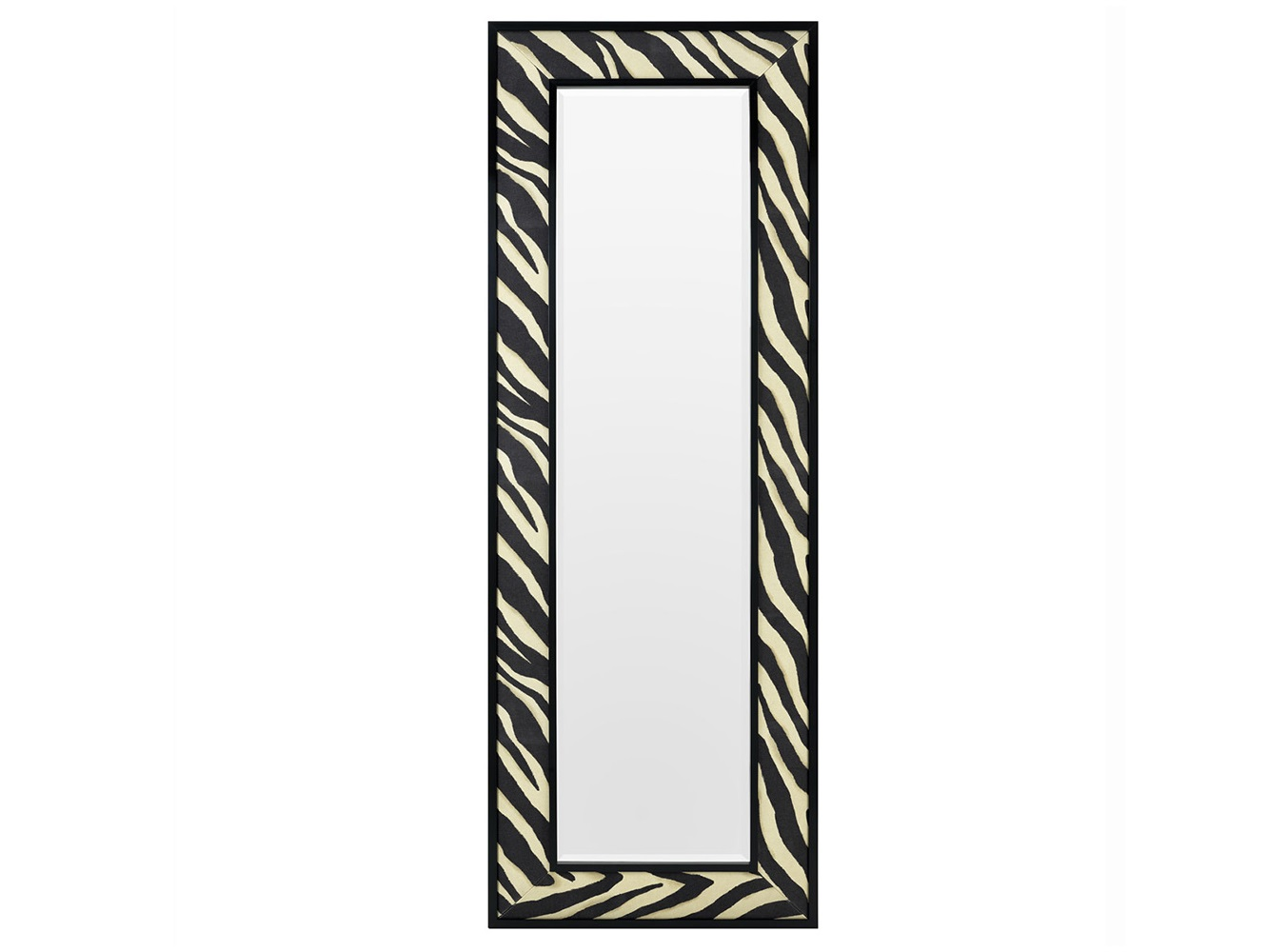 ЗеркалоНастенные зеркала<br>Зеркало Mirror Zebra в металлической раме с тканевой отделкой. Ткань с черно-белым принтом &amp;amp;quot;под зебру&amp;amp;quot;.<br><br>Material: Текстиль<br>Width см: 80<br>Height см: 220