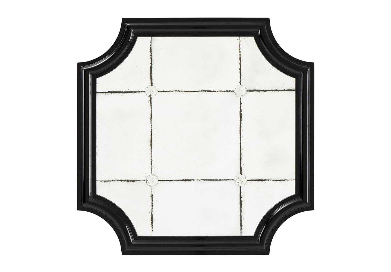 ЗеркалоНастенные зеркала<br>Зеркало Mirror Bari Loche с состаренным зеркальным стеклом в деревянной раме черного цвета.<br><br>Material: Дерево<br>Width см: 80<br>Height см: 80