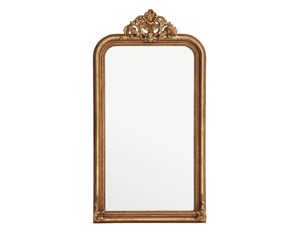 ЗеркалоНастенные зеркала<br>Зеркало Mirror Boulogne Guilded в металлической раме цвета античное золото.<br><br>Material: Металл<br>Ширина см: 90<br>Высота см: 170