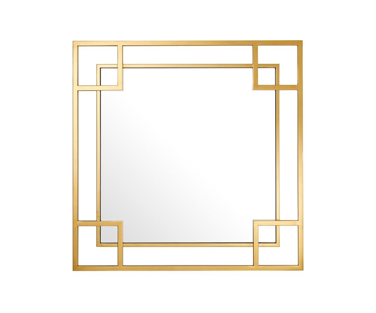 ЗеркалоНастенные зеркала<br>Зеркало Mirror Morris в фигурной раме золотого цвета.<br><br>Material: Стекло<br>Width см: 90<br>Height см: 90