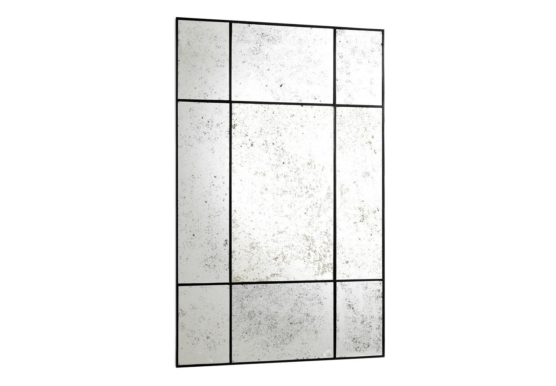 ЗеркалоНастенные зеркала<br>Зеркало Mirror Mountbatten состаренное в металлической раме черного цвета.<br><br>kit: None<br>gender: None