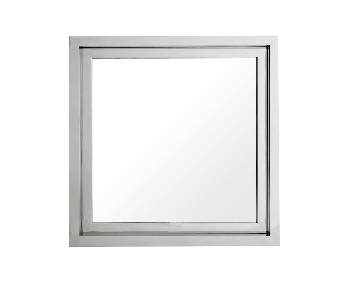 ЗеркалоНастенные зеркала<br>Зеркало Mirror Moore в раме из полированной нержавеющей стали.<br><br>Material: Сталь<br>Width см: 100<br>Height см: 100