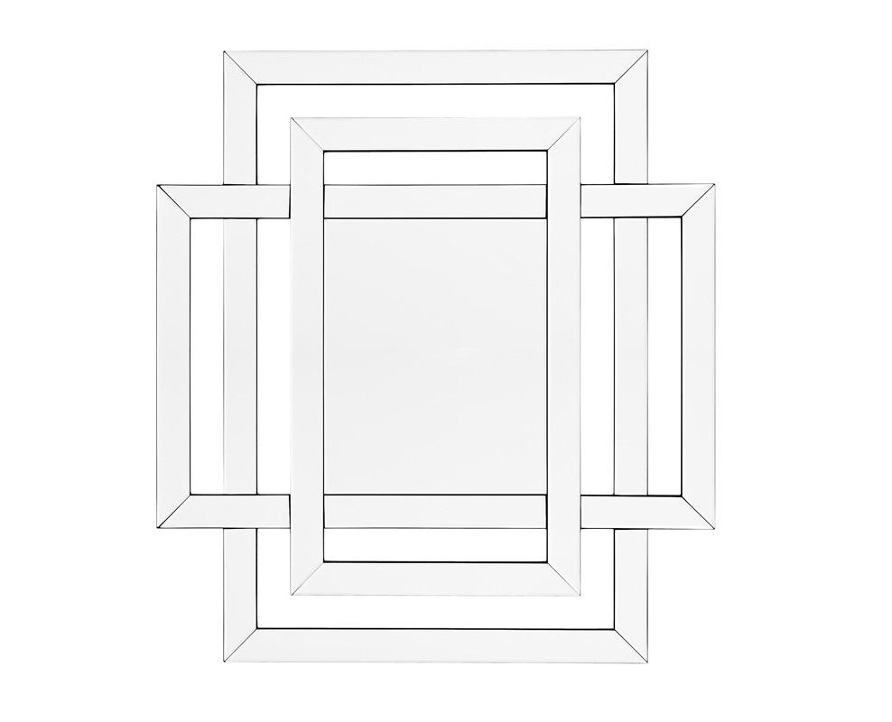 ЗеркалоЗеркала<br>Зеркало Mirror Mortimer в зеркальной раме c оригинальным дизайном.<br><br>Material: Стекло<br>Width см: 100<br>Height см: 110