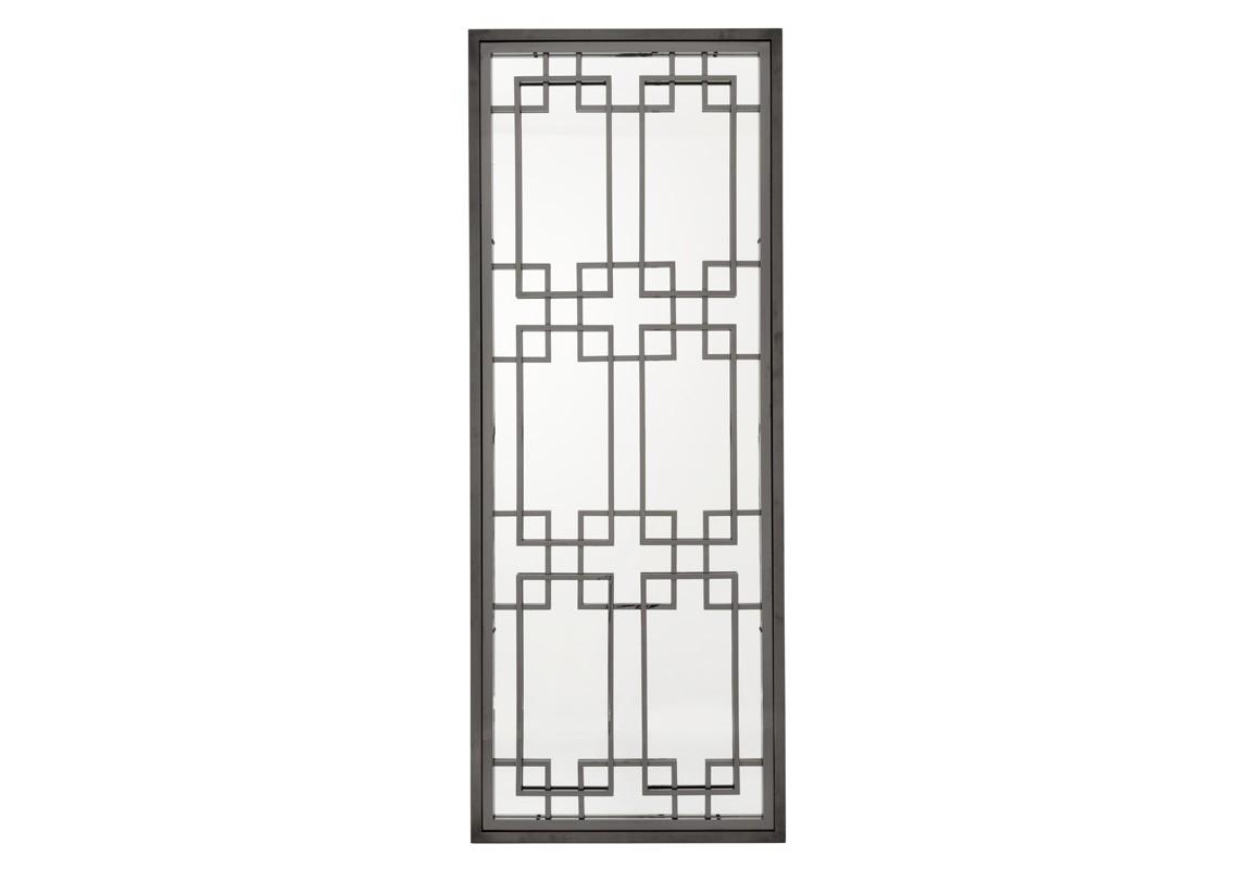 ЗеркалоНастенные зеркала<br>Зеркало Mirror Mota в никелированной раме черного цвета с оригинальным дизайном.<br><br>Material: Металл<br>Width см: 85<br>Height см: 220