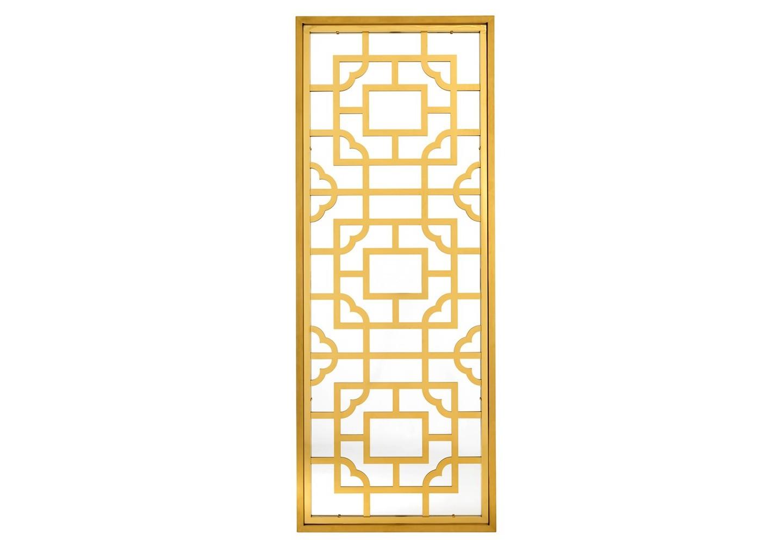 ЗеркалоНастенные зеркала<br>Зеркало Mirror Tory в металлической раме золотого цвета с оригинальным дизайном.<br><br>Material: Металл<br>Ширина см: 220.0<br>Высота см: 85.0