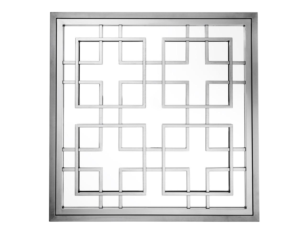 ЗеркалоНастенные зеркала<br>Зеркало Mirror Mota в никелированной раме с оригинальным дизайном.<br><br>Material: Металл<br>Ширина см: 100.0<br>Высота см: 100.0