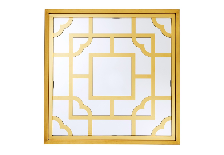 ЗеркалоНастенные зеркала<br>Зеркало Mirror Tory в металлической раме золотого цвета с оригинальным дизайном.<br><br>Material: Металл<br>Width см: 100<br>Height см: 100