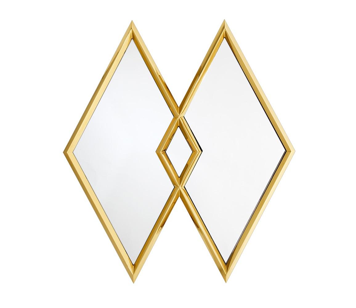 ЗеркалоНастенные зеркала<br>Зеркало Mirror Taraval с имитацией 2-х зеркал в рамках золотого цвета.<br><br>Material: Металл<br>Ширина см: 112<br>Высота см: 126