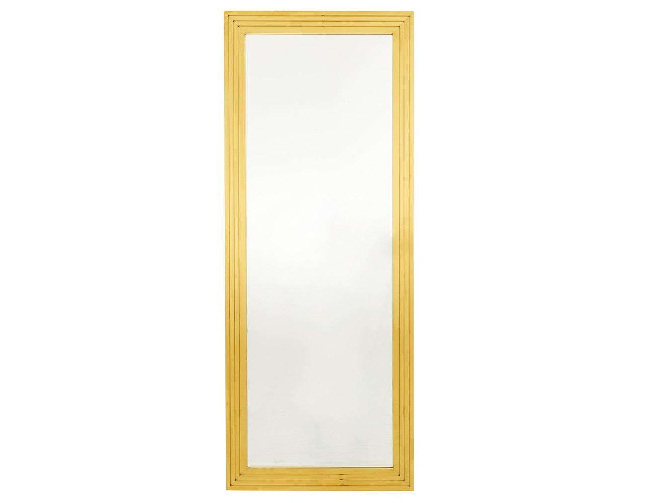 ЗеркалоНастенные зеркала<br>Зеркало Mirror Levine в зеркальной раме золотого цвета.<br><br>Material: Металл<br>Width см: 86<br>Height см: 219