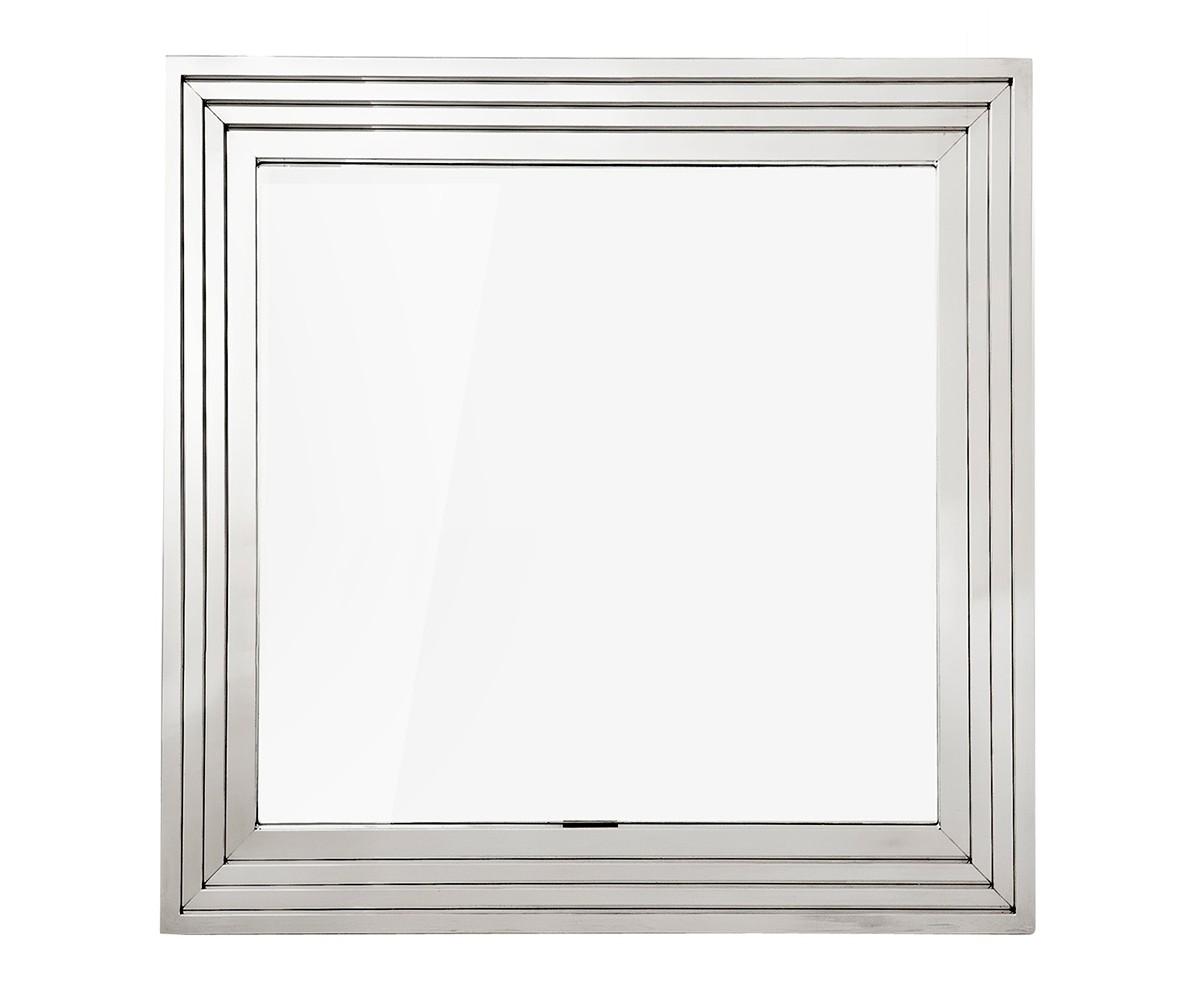 ЗеркалоНастенные зеркала<br>Зеркало Mirror Levine в раме из полированной нержавеющей стали.<br><br>Material: Сталь<br>Width см: 100<br>Height см: 100