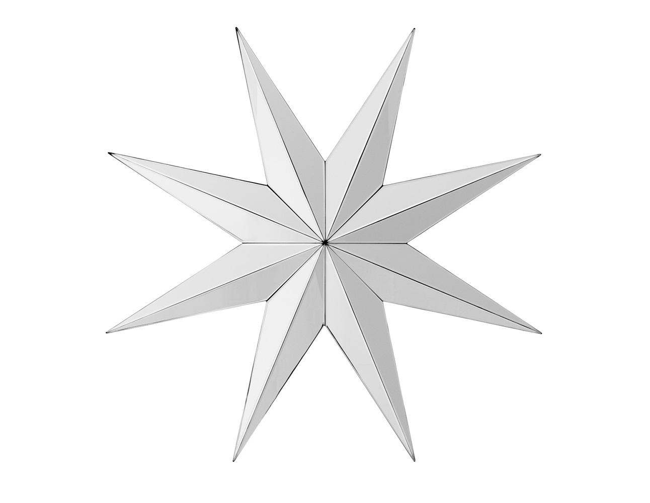 ЗеркалоНастенные зеркала<br>Зеркало Mirror Prisma с оригинальным дизайном в виде звезды из зеркальных граней.<br><br>Material: Стекло<br>Diameter см: 97,5