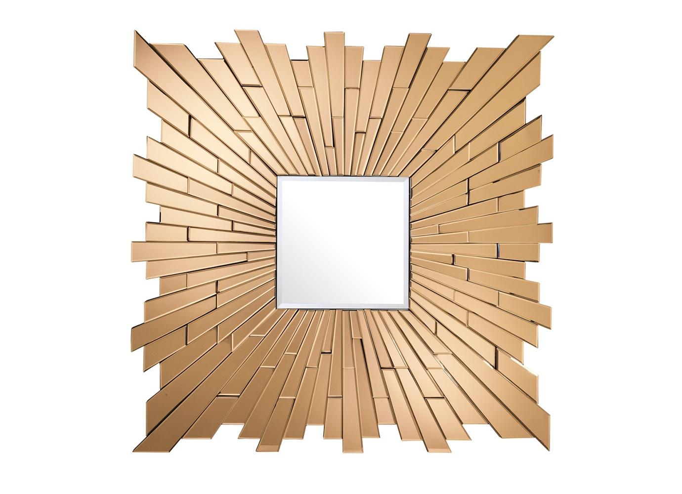 ЗеркалоНастенные зеркала<br>Зеркало Mirror Moonriver с оригинальным дизайном. Рамка состоит из зеркальных граней янтарного цвета.<br><br>Material: Стекло<br>Width см: 120<br>Height см: 120