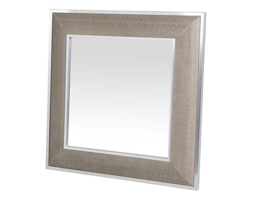 ЗеркалоНастенные зеркала<br>Зеркало Mirror Cobra в металлической раме с оттделкой &amp;amp;quot;под змеиную кожу&amp;amp;quot; бежево-кремового цвета.<br><br>Material: Металл<br>Width см: 100<br>Height см: 100