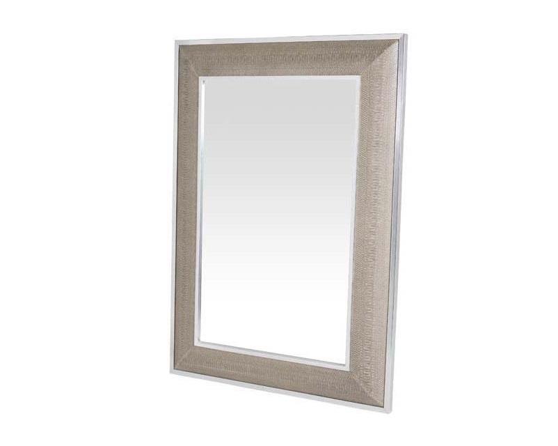ЗеркалоНастенные зеркала<br>Зеркало Mirror Cobra в металлической раме с оттделкой &amp;amp;quot;под змеиную кожу&amp;amp;quot; бежево-кремового цвета.<br><br>Material: Металл<br>Ширина см: 100.0<br>Высота см: 140.0
