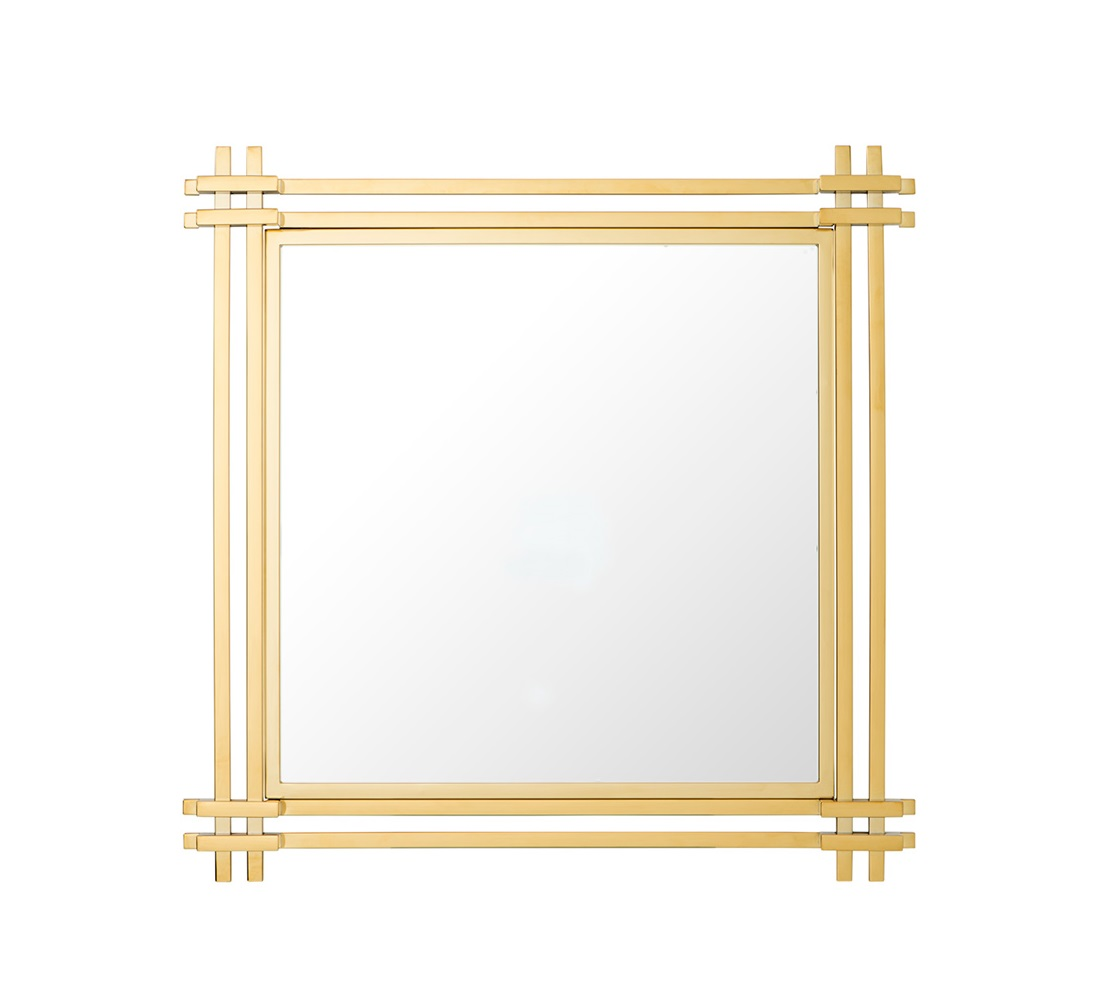 ЗеркалоНастенные зеркала<br>Зеркало Mirror Convento с оригинальным дизайном в зеркальной раме золотого цвета.<br><br>Material: Стекло<br>Ширина см: 90.0<br>Высота см: 90.0