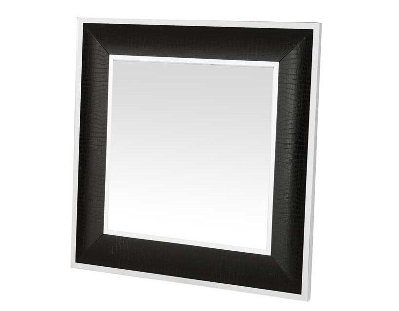ЗеркалоНастенные зеркала<br>Зеркало Mirror Croco в металлической раме с оттделкой &amp;amp;quot;под алигатора&amp;amp;quot; черного цвета.<br><br>Material: Металл<br>Ширина см: 100<br>Высота см: 100