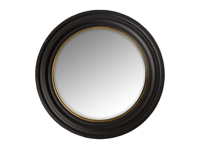 ЗеркалоНастенные зеркала<br>Зеркало Mirror Cuba L в деревянной выпуклой раме черного цвета.<br><br>Material: Дерево<br>Diameter см: 75
