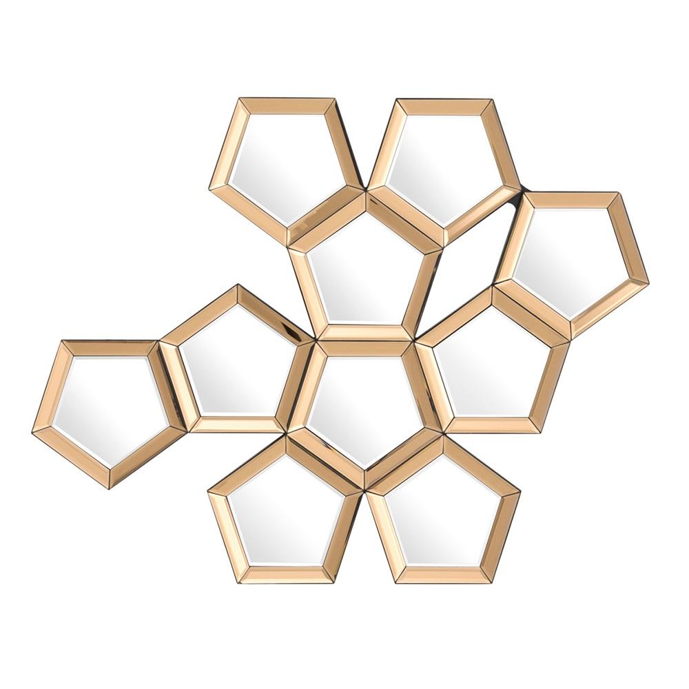 ЗеркалоДругое<br>Зеркало Mirror Cheyenne с оригинальным дизайном. Рамка состоит из зеркальных граней золотого цвета.<br><br>Material: Стекло<br>Ширина см: 87<br>Высота см: 101