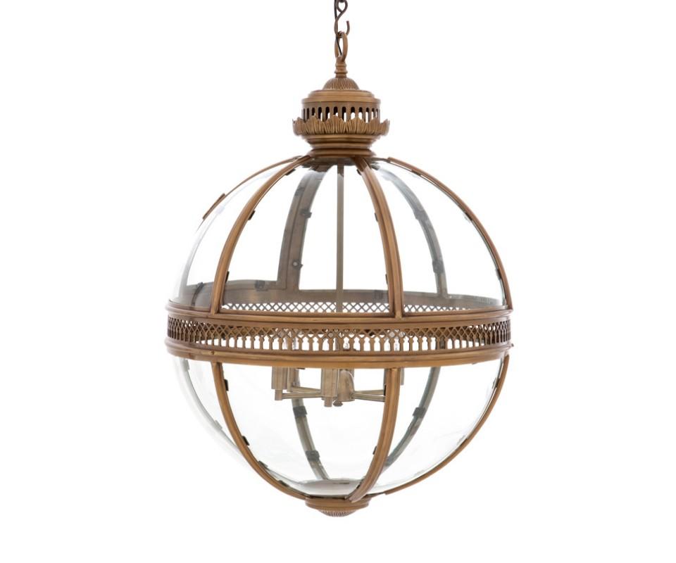 Подвесная люстраЛюстры подвесные<br>Lantern Residential. Подвесная люстра из стекла и металла. Цвет металла - состаренная латунь. Высота подвеса регулируется. Можно дополнительно укомплектовать светильник абажурами.&amp;lt;div&amp;gt;&amp;lt;br&amp;gt;&amp;lt;/div&amp;gt;&amp;lt;div&amp;gt;Вид цоколя: E14&amp;lt;/div&amp;gt;&amp;lt;div&amp;gt;Мощность: &amp;amp;nbsp;40W&amp;lt;/div&amp;gt;&amp;lt;div&amp;gt;Количество ламп: 6&amp;lt;/div&amp;gt;<br><br>Material: Металл<br>Height см: 88<br>Diameter см: 60