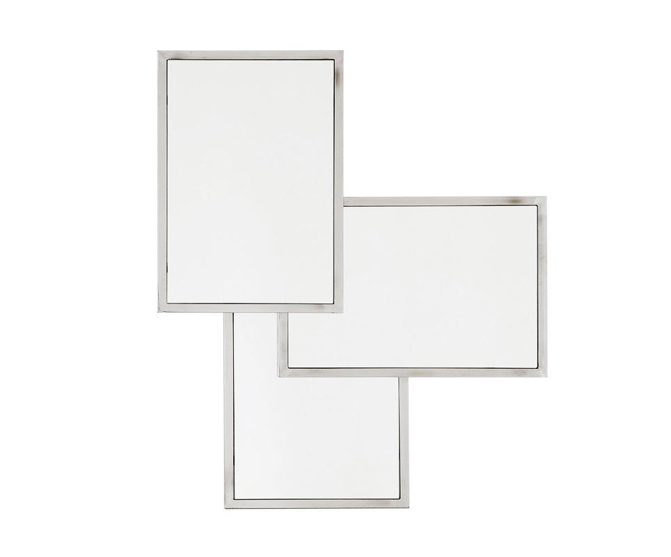 ЗеркалоНастенные зеркала<br>Зеркало Sensation с эффектом 3 в 1. Рамки стального цвета.<br><br>Material: Металл<br>Width см: 80<br>Height см: 96