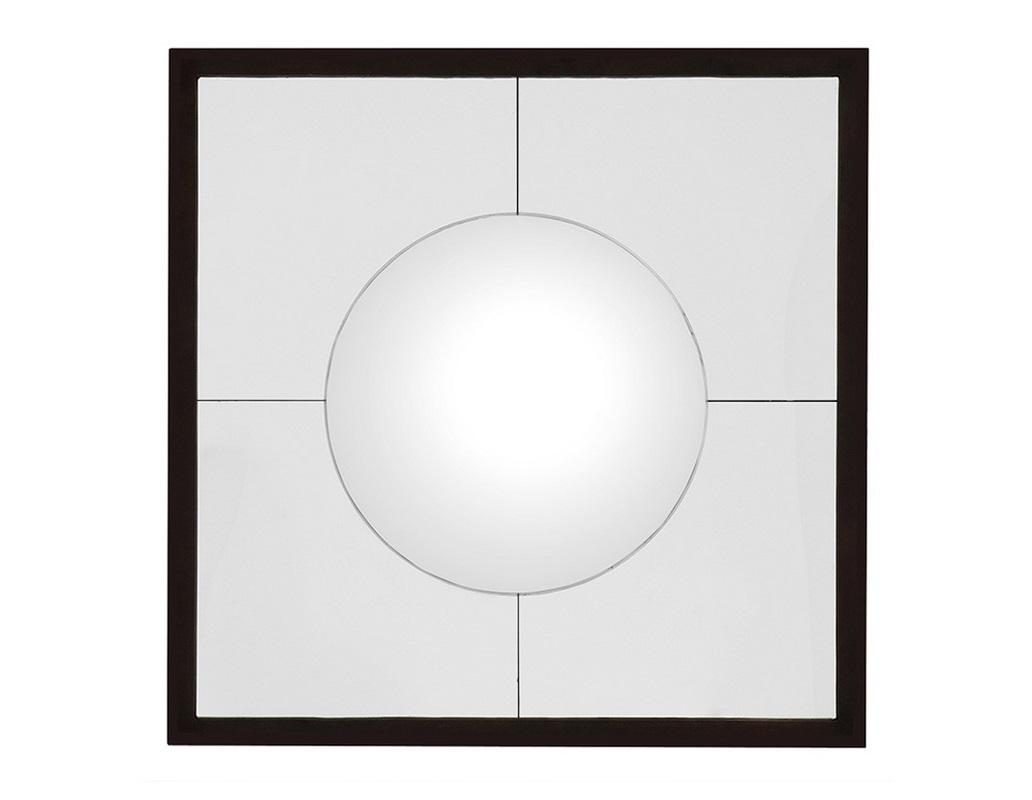 ЗеркалоНастенные зеркала<br>Настенное квадратное зеркало Mirror Bustamante в черной раме. Зеркало собрано из составленных частей с выпуклой окружностью в центре.<br><br>Material: Металл<br>Width см: 101<br>Depth см: 4<br>Height см: 101