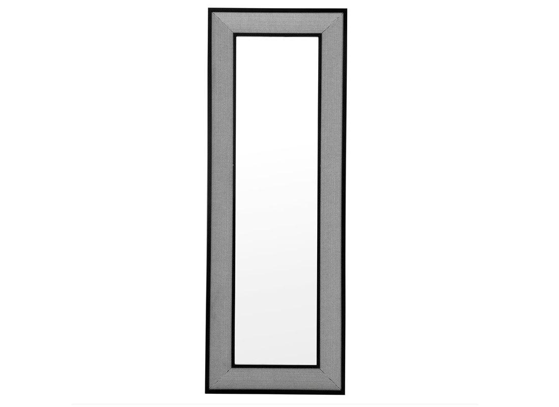 ЗеркалоНастенные зеркала<br>Зеркало Herringbone в рамке из текстиля &amp;amp;#40;100&amp;amp;#37; полиэстер&amp;amp;#41; черно-белого цвета.<br><br>Material: Текстиль<br>Ширина см: 80<br>Высота см: 220