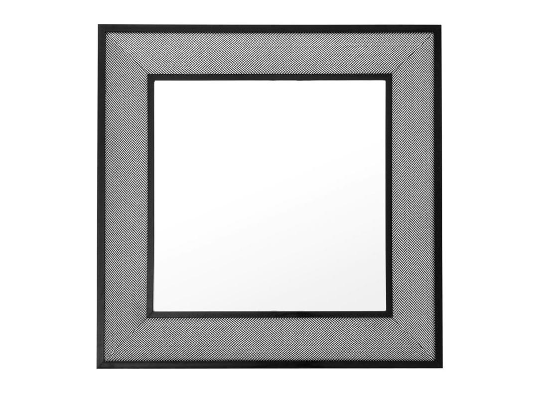 ЗеркалоНастенные зеркала<br>Зеркало Herringbone в рамке из текстиля &amp;amp;#40;100&amp;amp;#37; полиэстер&amp;amp;#41; черно-белого цвета.<br><br>Material: Текстиль<br>Width см: 100<br>Height см: 100