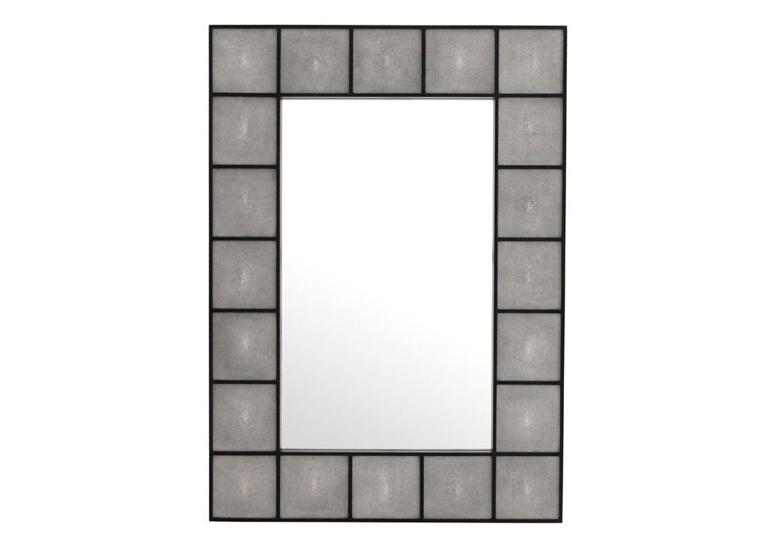 ЗеркалоНастенные зеркала<br>Зеркало из коллекции Shagreen в деревянной раме со стеклянными вставками серого цвета.<br><br>Material: Стекло<br>Ширина см: 100.0<br>Высота см: 140.0