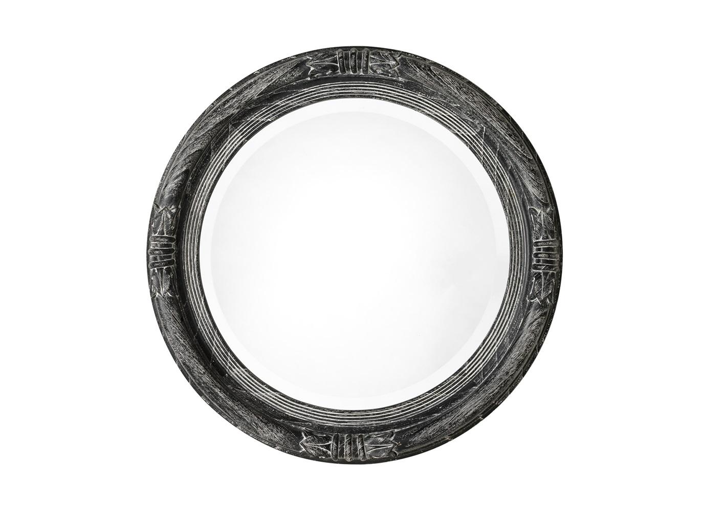 ЗеркалоНастенные зеркала<br>Зеркало Mirror Acanthus в деревянной резной раме черного цвета.<br><br>Material: Дерево<br>Diameter см: 80