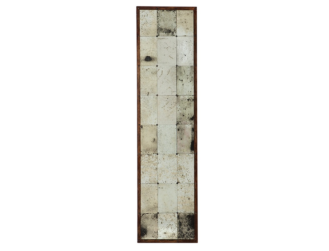 ЗеркалоНастенные зеркала<br>Декоративное зеркало Mirror Cervilla с состаренным зеркальным стеклом в деревянной раме коричневого цвета.<br><br>Material: Дерево<br>Width см: 52<br>Height см: 200