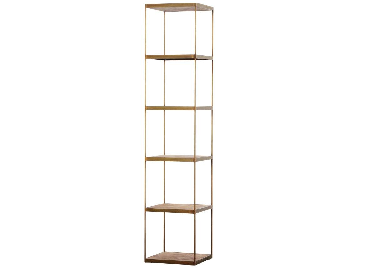 Книжный стеллаж Lanford BookshelfСтеллажи и этажерки<br><br><br>Material: Металл<br>Ширина см: 45<br>Высота см: 215<br>Глубина см: 45