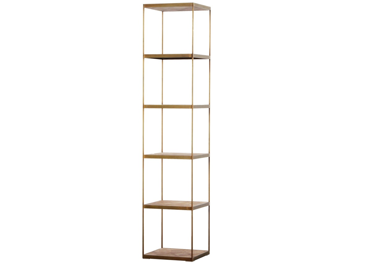 Книжный стеллаж Lanford BookshelfСтеллажи<br><br><br>Material: Металл<br>Width см: 45<br>Depth см: 45<br>Height см: 215